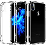 For iPhone X Case / iPhone 10 Case, MoKo Crystal Clear Reinforced Corners TPU Bumper Cushion + Anti-scratch Hybrid Rugged Transparent Panel Cover for Apple iPhone X 2017 - Crystal Clear