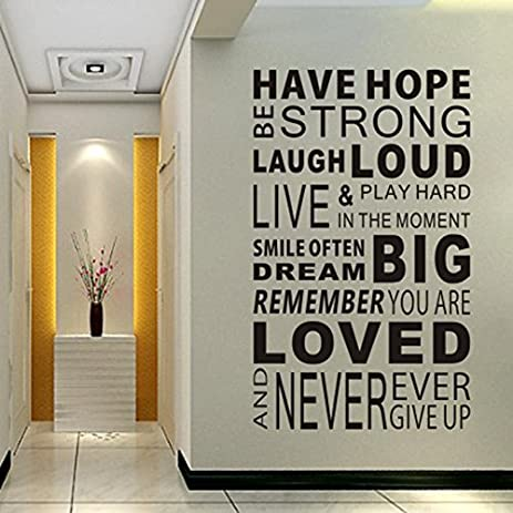 Inspirational Wall Decals Quotes, Word Wall Sticker Quotes ...