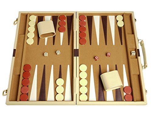 Deluxe Backgammon Set - Camel - 15