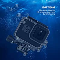 Deyard Accessories Kit for GoPro Hero 8 Black with Shockproof Small Case Anti-Fog Inserts Bundle for GoPro Hero 8 Silicone Cover Lens Filters Waterproof Case Tempered Glass Screen Protector