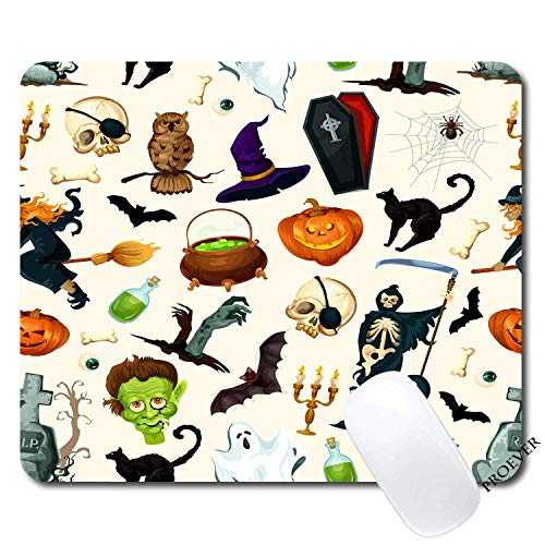 Halloween Pumpkin Mouse pad Gaming Mouse pad Mousepad Nonslip Rubber Backing ()
