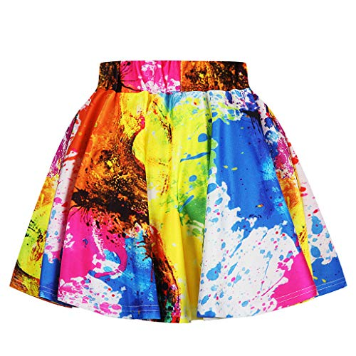 NUWFOR Toddler Kids Girl Galaxy 3D Digital Printing Princess Casual Pleated Tutu Skirt(Multicolor,7-8 Years) by NUWFOR (Image #2)