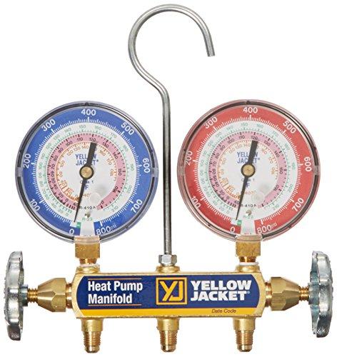 Yellow Jacket 42041 Heat Pump Manifold, R/22/407C/410A, Degrees F