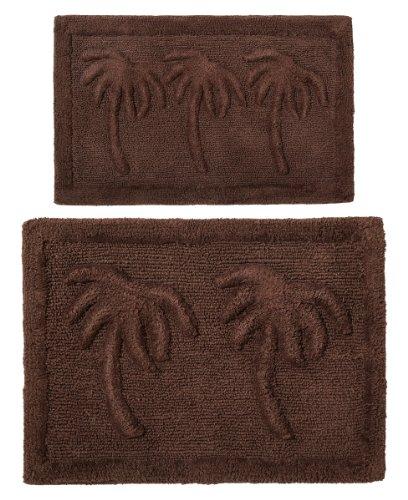 cotton-craft-2-piece-bath-rug-set-palm-tree-chocolate-100-pure-cotton-with-spray-latex-back-high-qua