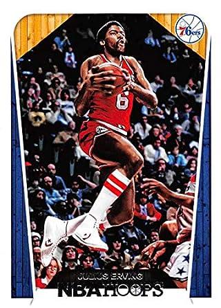 d55fa12ed4c 2018-19 Panini Hoops  287 Julius Erving Tribute Philadelphia 76ers NBA  Basketball Trading Card