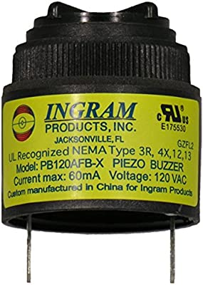 Amazon.com: 120 VAC warble Alarma 95dB de sonido en negro ...