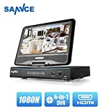 SANNCE 4-Channel 4-in-1 1080N HD-TVI Security System DVR Recorder with 10inch Monitor and Motion Detect, Support AHD/TVI/CVBS/IP Camera, No Hard Drive Included