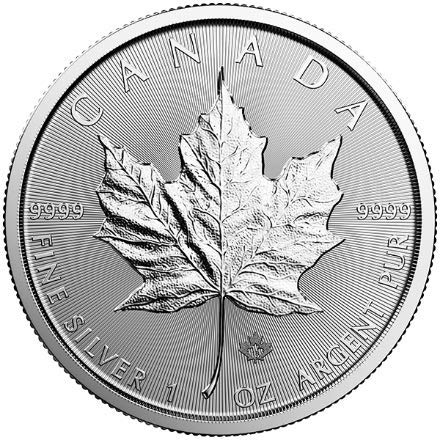 2018 CA Canadian Maple Leaf 1 Troy Oz Silver Bullion $5 Dollars Brilliant - Sacagawea Dollar Value