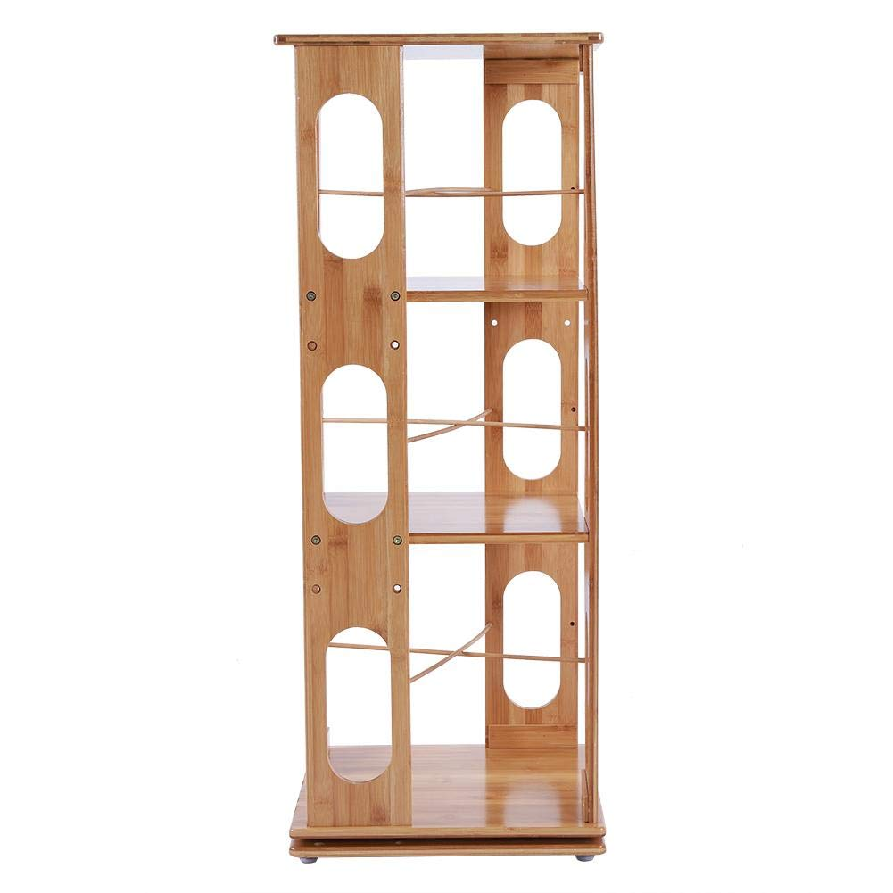 Revolving Bookshelf 3 Layers Shelving Floor-standing Storage Rack For Simple Bookcase With 360-Degree Rotation The Revolving Turntower 95x37x34cm