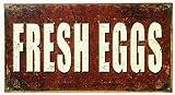 Fresh Eggs Tin Sign 9 x 16in