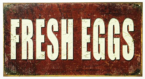 Fresh Eggs Tin Sign