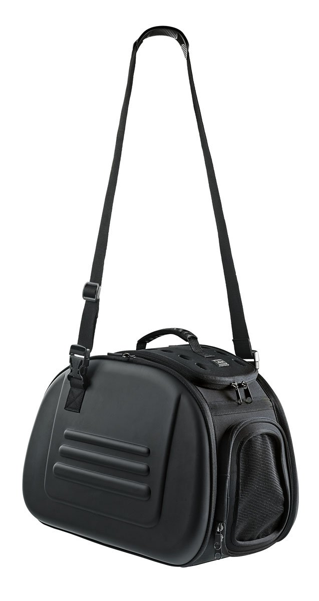 Hunter Luxury Dog-Carrier, Black Solid and Foldable Travel Case for Dogs and Cats