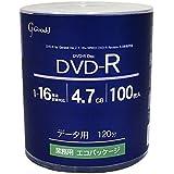 good-j(グット-ジェイ) GRS16X100PW (DVD-R 16倍速100枚)