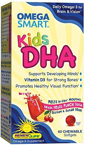 Renouveler Omega DHA Smart Kids, 60 comptage