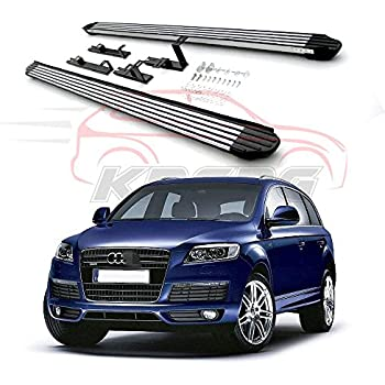 Fit for Audi Q7 2006-2015 Aluminum Running Boards Side Step Door Side Bars Nurf Bar