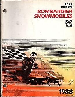 1988 bombardier ski doo moto ski shop service manual 484 0550 00 rh amazon com Suzuki MX 1991 Ski-Doo Formula MX