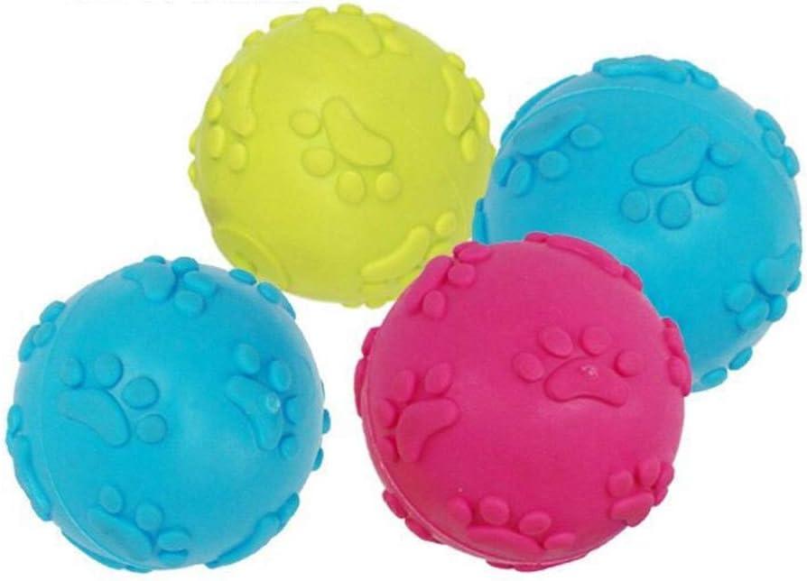 POPETPOP 6pcs Perro de Mascota Cachorro de Perro Perros duraderos Juguetes para Masticar Bolas de Juguete Masticar Bolas chillonas para masticadores agresivos (Color Aleatorio)