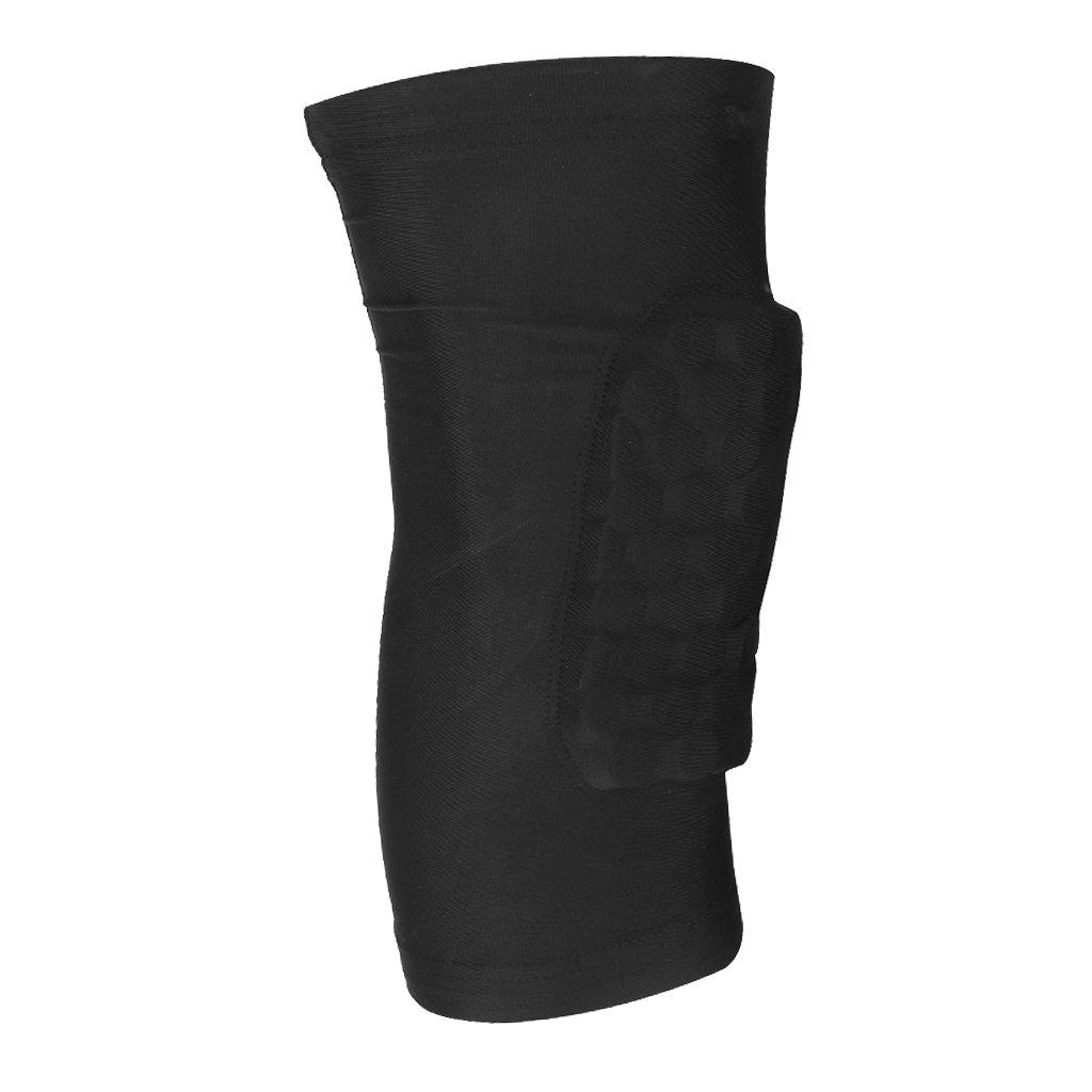 Rodillera Protectora Almohadilla de Rodillas Antideslizante Nido de Abeja para Deportes Negro L Genérico