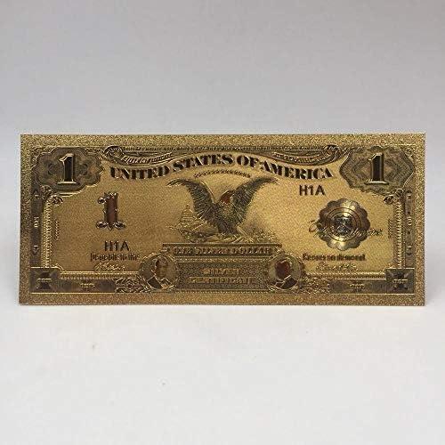 ZYZRYP 1個Kelin供給防水性と耐久性の24Kゴールドメッキ紙幣USD 100ドルの貴重なお土産ギフトマネー 使いやすい (色 : USD1 in 1899)