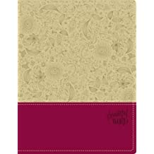 NIV, Beautiful Word Bible, Imitation Leather, Tan/Pink: 500 Full-Color Illustrated Verses