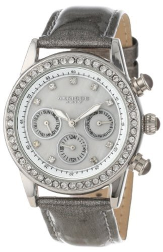 Akribos XXIV Women's AK556GY Multi-Function Dazzling Strap Watch