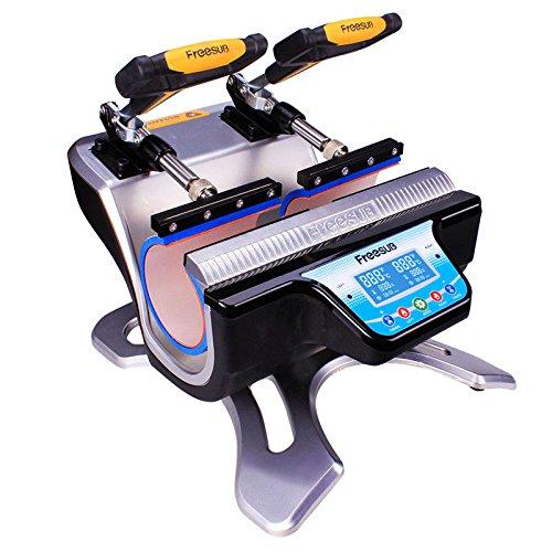 Double Station Mug Heat Press Machine DIY Sublimation Two ...