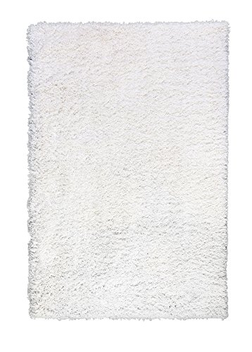 Soft & Plush Solid Shag Rug for Bedroom | Living Room | Entryway 4' x 6', White - White Soft Plush