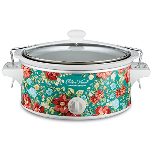 The Pioneer Woman Slow Cooker 6 Quart Portable Crock Pot Flea Market (6 Quart Pattern Vintage - Stores Place In Pioneer