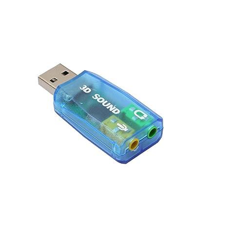 Tarjeta de Sonido Externa USB 2.0 3D Sound 5.1 Audio para Portatil ...