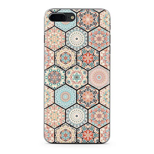 Lex Altern TPU Case for iPhone Apple Xs Max Xr 10 X 8+ 7 6s 6 SE 5s 5 Bohemian Tile Phone Arabic Slim fit Boho Gift Lightweight Cover Themed Smooth Print Mosaic Design Clear Flexible Soft Moroccan ()