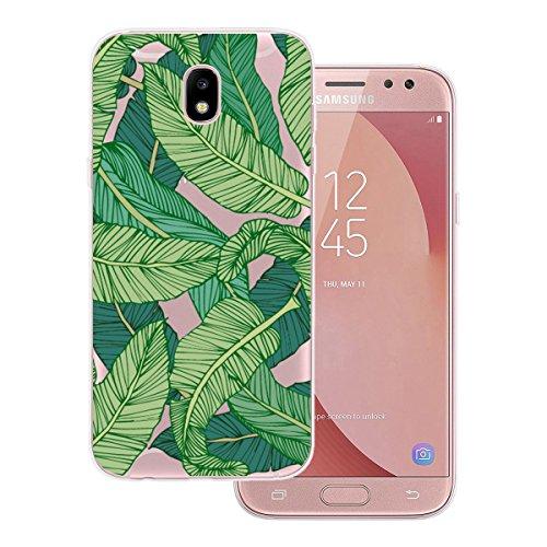Funda Samsung J5 2017, WE LOVE CASE Ultra Fina Slim Suave Funda Samsung J5 2017 Silicona Cubierta Clear Cover Original Flexible Gel Dibujos Anti Rasguños Choque con Diseño Protectora Resistente Funda  Verde