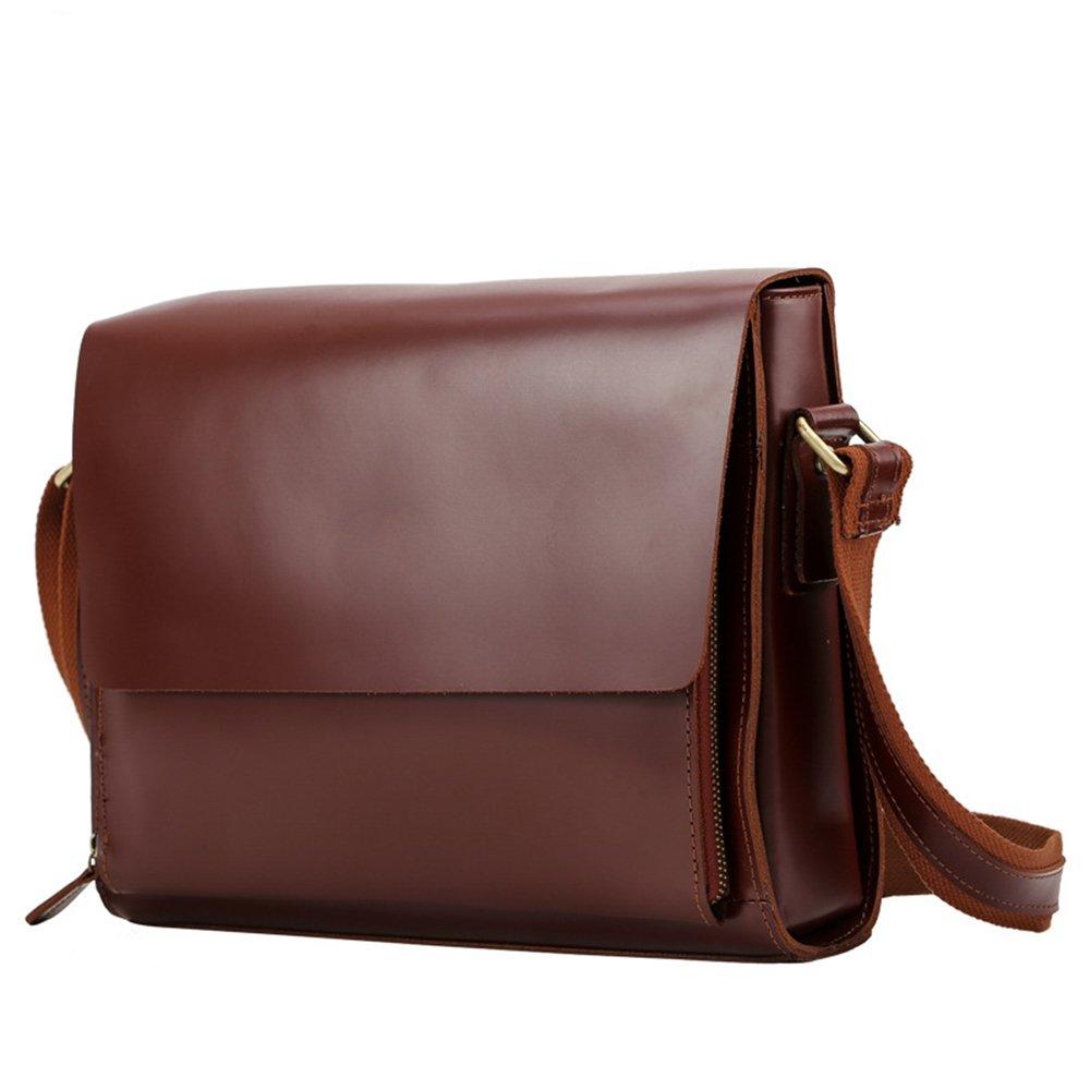 AFCITY maletín para Ordenador portátil Bolso Retro del Estilo británico Bolso Cruzado del Cuero del Bolso Cruzado de los Hombres Bolso Ligero del Doble-Uso ...