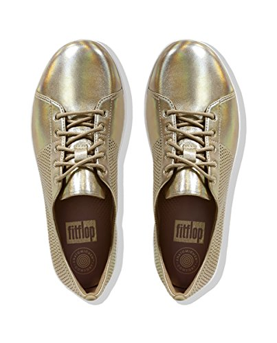 Scoop Gold Perf Sporty F Sneakers Cut FitFlop Leather SxFBq7Sw