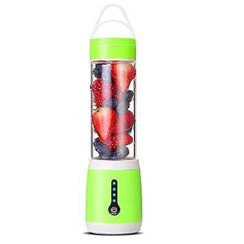 Mini batidora de jugo 480 ml 150 W portátil para hacer batidos, batería de 4400 mAh 480ML verde: Amazon.es: Hogar