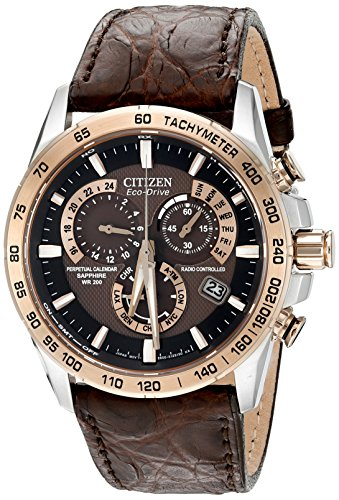 Citizen-Eco-Drive-Mens-Perpetual-Chrono-A-T-Analog-Display-Japanese-Quartz-Brown-Watch-Model-AT4001-00X