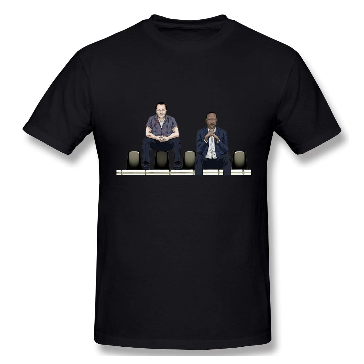 Qidong Green Book Movie Personality Cartoon Character Viggo Mortensen and Mahershala Ali Mens Basic Short Sleeve T-Shirt