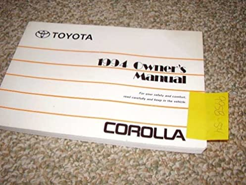 1994 toyota corolla owners manual toyota amazon com books rh amazon com 1994 toyota corolla owners manual 1994 toyota corolla owners manual