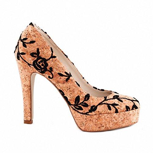 NAE Cork Rose Pump F - chaussures vegan