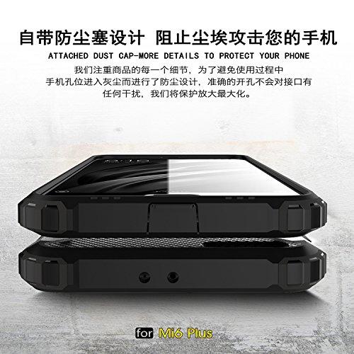 Fundas Xiaomi Mi Note 2,XINYUNEW TPU+PC [Regalo Cristal Vidrio Templado] Premium Armadura Híbrido caja de la armadura para el teléfono Silicona Carcasa Case Funda para Xiaomi Mi Note 2 Negro Oro