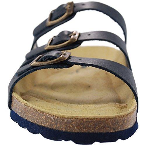 Sandals Sanosan Navy Strap Ladies Leather 3 Lisbon ppInB6f