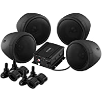 Sound Storm Laboratories SMC90BB Bluetooth Motorcycle/UTV Speaker & Amplifier System