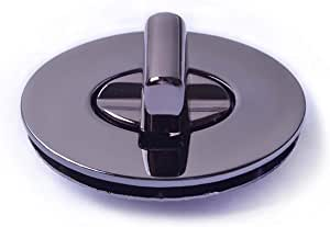 Bobeey 2sets 46x35mm Oval Purses Locks Clutches Closures,Metal Oval Twist Locks Purse Closure Turn Locks BBL4 (Black Gun, XL)