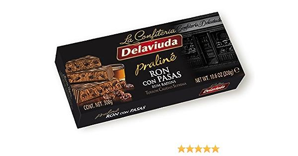 Delaviuda - Turrón Ron con Pasas, 300 g