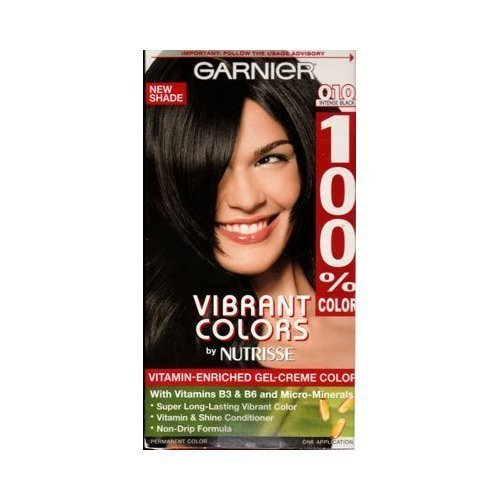 Garnier 100% Color Vitamin-Enriched Gel Crème, 010 Intense Black