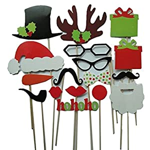 17 Pcs DIY Colorful Chalkboard Photo Booth Props On A Stick Mustache Bearded Lips Eyeglasses For Fun Wedding Favor Christmas Birthday Party Favor Accessories