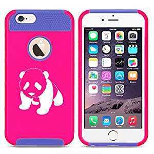 Apple iPhone 6 Plus / 6s Plus Shockproof Impact Hard Case Cover Baby Panda (Hot Pink-Blue)