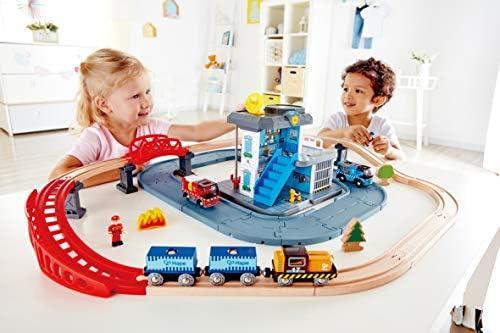 Hape E3736 Notfall Hauptquatier, Eisenbahn, Autobahn