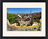 Framed Print of Parc Guell park with architecture deisgned by Antoni Gaudi in Barcelona, Spain