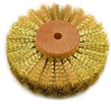 Brass Wire Brush Strands .004'' X 6'' Diameter Crimped 4 Row