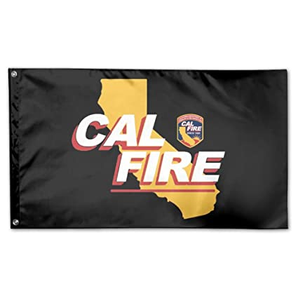 amazon com udsnis california strong cal fire logo garden flag 3 x